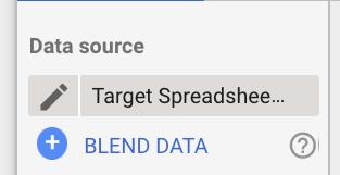 Blend Data in Google Data Studio