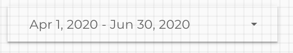 Google Data Studio Date Selector