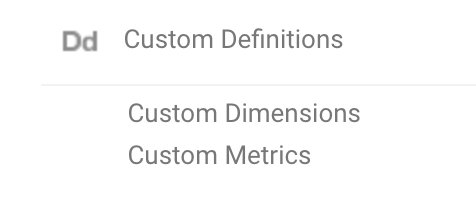 Custom Dimensions Screen in Google Analytics